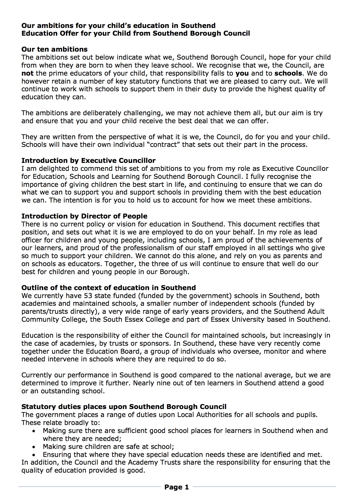Council sets ambitions in new education blueprint leigh on sea if approved by cabinet the document will be launched as the official education policy of the council malvernweather Image collections