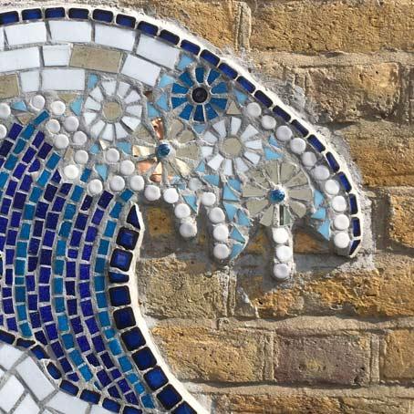 Sea Inspired Mosaic Making