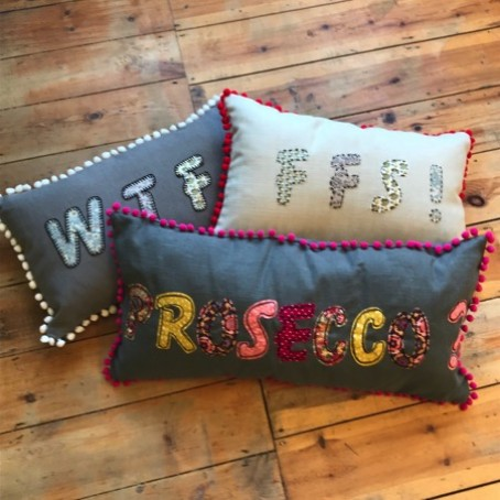 Contemporary Hand Embroidered Cushion Course @ Create98
